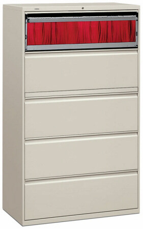 "HON 42"" 5 Drawer Lateral File Cabinet [895L] -1"