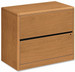 HON 2 Drawer Laminate Lateral Filing Cabinet [10762] -1
