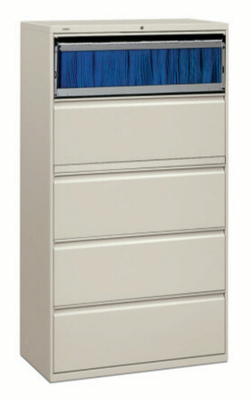"HON 5 Drawer Lateral File Cabinet 36"" Wide [885L] -1"