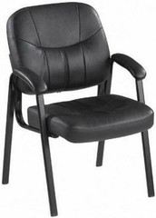 Lorell Chadwick Series Leather Guest Chair [60122] -1