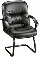 Lorell Guest Chair with Sled Cantilever Base [60114] -1