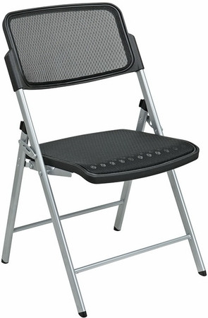 Lorell Mesh Folding Chairs [60533] -1