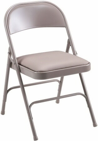 Lorell Padded Seat Metal Folding Chair [62501] -1