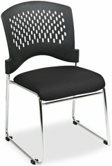 Lorell Plastic Back Sled Base Stacking Chairs [60543] -1