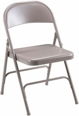 Lorell Steel Seat Metal Folding Chairs [62500] -1