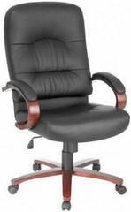 Lorell Woodbridge High Back Leather Chair [60335] -1