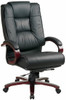 Mahogany Finish Leather Office Chair [8500] -1