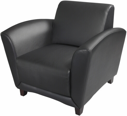 Terrific Mayline Aspire Series Leather Reception Chair Vcc1 Caraccident5 Cool Chair Designs And Ideas Caraccident5Info
