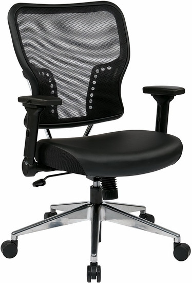 Office Star Mesh Back Chair with Folding Arms [213-E37P91F3] -1
