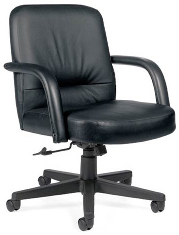 Global Sienna Mid Back Leather Swivel Office Chair [3941] -1