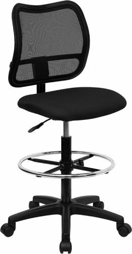 Mid Back Mesh Drafting Chair [WL-A277-BK-D-GG] -1