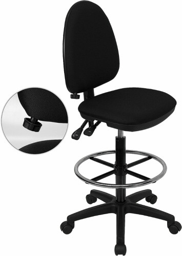 Mid Back Multi-Function Counter Height Stool [WL-A654MG-BK-D-GG] -1