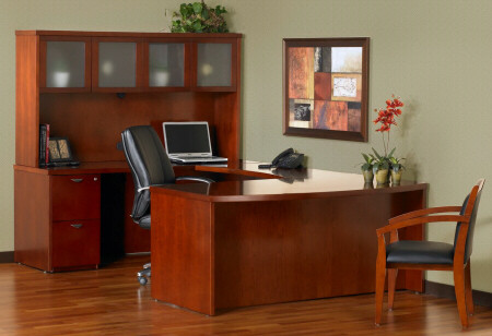 Mira U Executive Office Desk with hutch [MEU1] -1