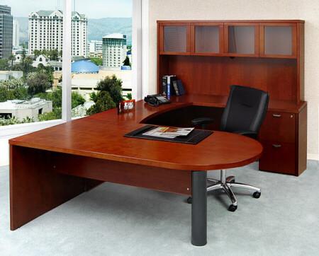 Mira U Shaped Office Desk with Hutch [MEU2]