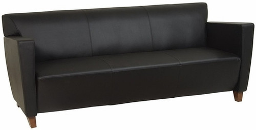 Office Star Leather or Fabric Upholstered Sofa [SL8473] -2
