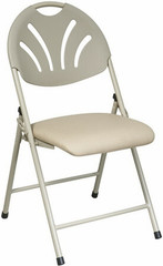 Office Star Fan Back Folding Chair [FC8100NBG] -1