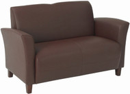 Flared Arm Eco Leather Loveseat [SL2272] -1