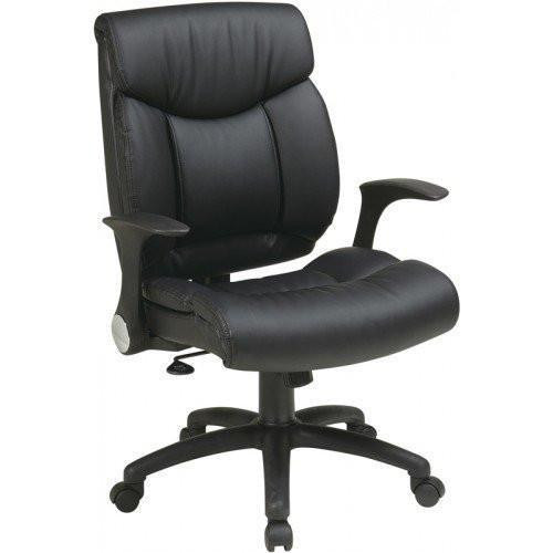 Office Star Faux Leather Managers Chair with Flip Arms [FL89675] -1