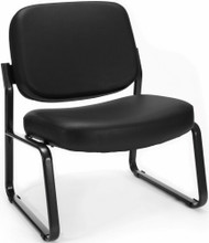 OFM Armless Big and Tall Vinyl Guest Chair [409-VAM] -1