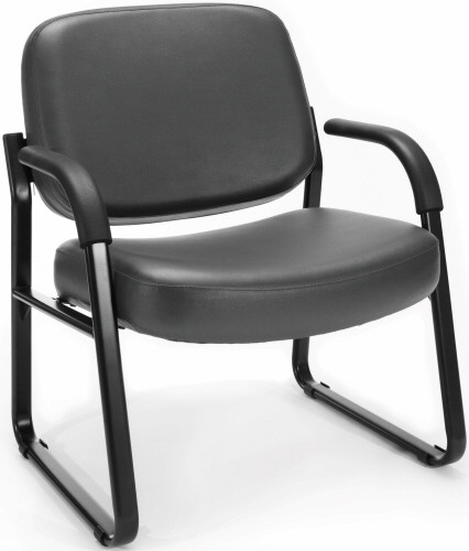 Ofm Heavy Duty Vinyl Guest Chair With Arms 407 Vam