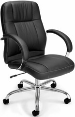 OFM Mid Back Faux Leather Chair [517-LX] -1