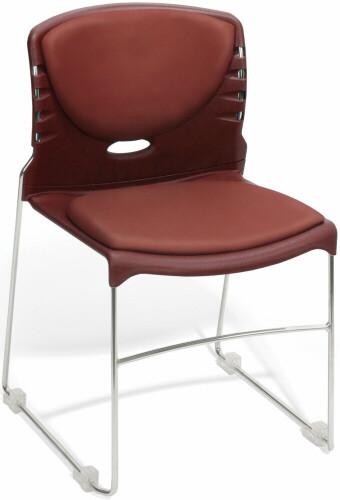 OFM Vinyl Upholstered Plastic Stack Chairs [320-VAM] -1