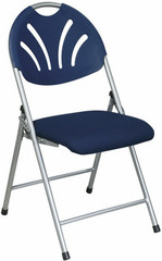 Plastic Fan Back Folding Chairs with Fabric Seat [FC8100NS] -1