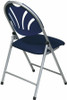 Plastic Fan Back Folding Chairs with Fabric Seat [FC8100NS] -2
