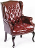 Queen Anne Wingback Office Side Chair [B809] -2