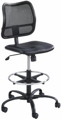 Safco Vue Mesh Back Vinyl Seat Drafting Chair [3395BV] -1