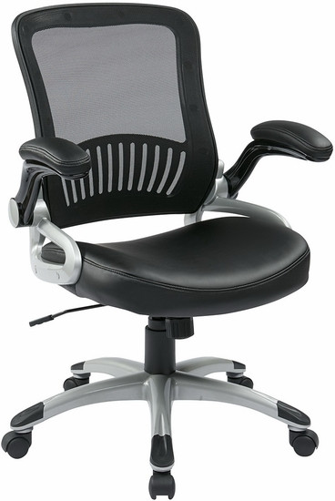 Screen Back Mesh Office Chair with Eco Leather Seat [EM35201] -1
