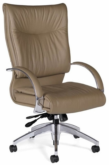 Global Softcurve Contemporary Leather Chair [4696LM 4]  1