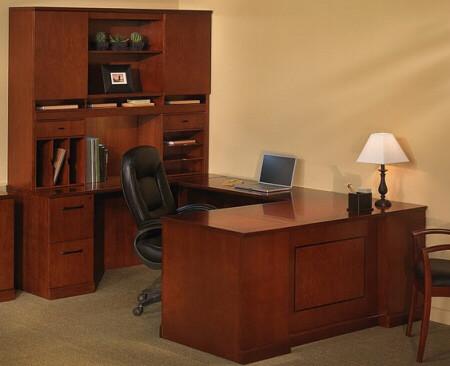 Sorrento U Shaped Executive Desk With Hutch [ST8]  1