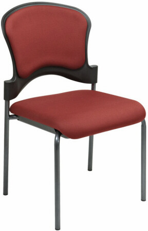 Upholstered Armless Stacking Chair [82720] -1