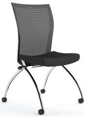 Mayline Valore High Back Armless Nesting Chairs [TSH2] -Black