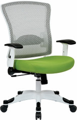 Office Star White Mesh Back Office Chair [317W-W1C1F2W] -1