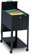 Mayline Mobilizers File with Lid Black [9P610BLK]-1