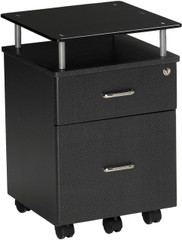 Mayline Vision Glass Top Pedestal Anthracite [973ANT]-1