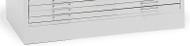 "Mayline C-Files Flush Base for 30""x42"" Sheets White [7868WG5]-1"