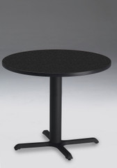 """Mayline Bistro 30"""" Round Dining Height Table Black Base [CA30RLBTANT]-1"""