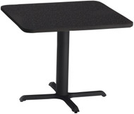 """Mayline Bistro 30"""" Square Dining Height Table Black Base [CA30SLBTANT]-1"""