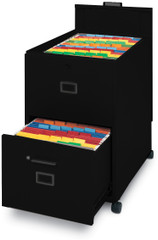 Mayline Mobilizers File with Lid & Drawer Black [9P620BLK]-1