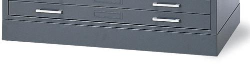 "Mayline C-Files Flush Base for 36""x48"" Sheets Gray [7869WP5]-1"