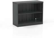 Mayline Aberdeen 2 Shelf Bookcase Fixed Shelf Gray Steel [AB2S36LGS]-1