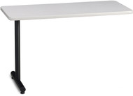 "Mayline T-Mate 48""X24"" Rectangular Adder Table Ice Gray [PRA4824TSFLK]-1"