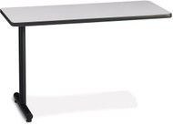 "Mayline T-Mate 48""X24"" Rectangular Adder Table Black [PRA4824TSFLK4]-1"