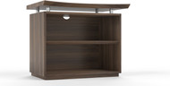 "Mayline Sterling 36"" 2-Shelf Bookcase Textured Brown Sugar [STEB2TBS]-1"