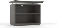 "Mayline Sterling 36"" 2-Shelf Bookcase Textured Driftwood [STEB2TDW]-1"