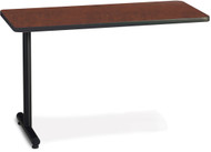 "Mayline T-Mate 72""x24"" Rectangular Adder Table Regal Mahogany [PRA7224TSRMH]-1"