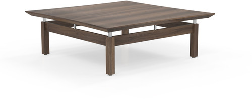 """Mayline Sterling 48"""" Square Coffee Table Textured Brown Sugar [STCTTBS]-1"""